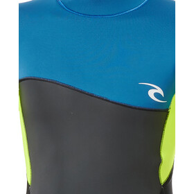 Rip Curl Omega SS Back Zip Suit Boys neon lime